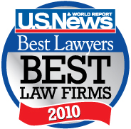 U.S. News & World Report - Best Law Firm 2010